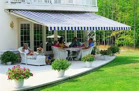 Featured Product Of The Day Aleko Retractable 13 X 10 Patio Awning 13ft X 10ft 4m X 3m Blue And White Stripes With 2 Y Patio Awning Patio Decks Backyard