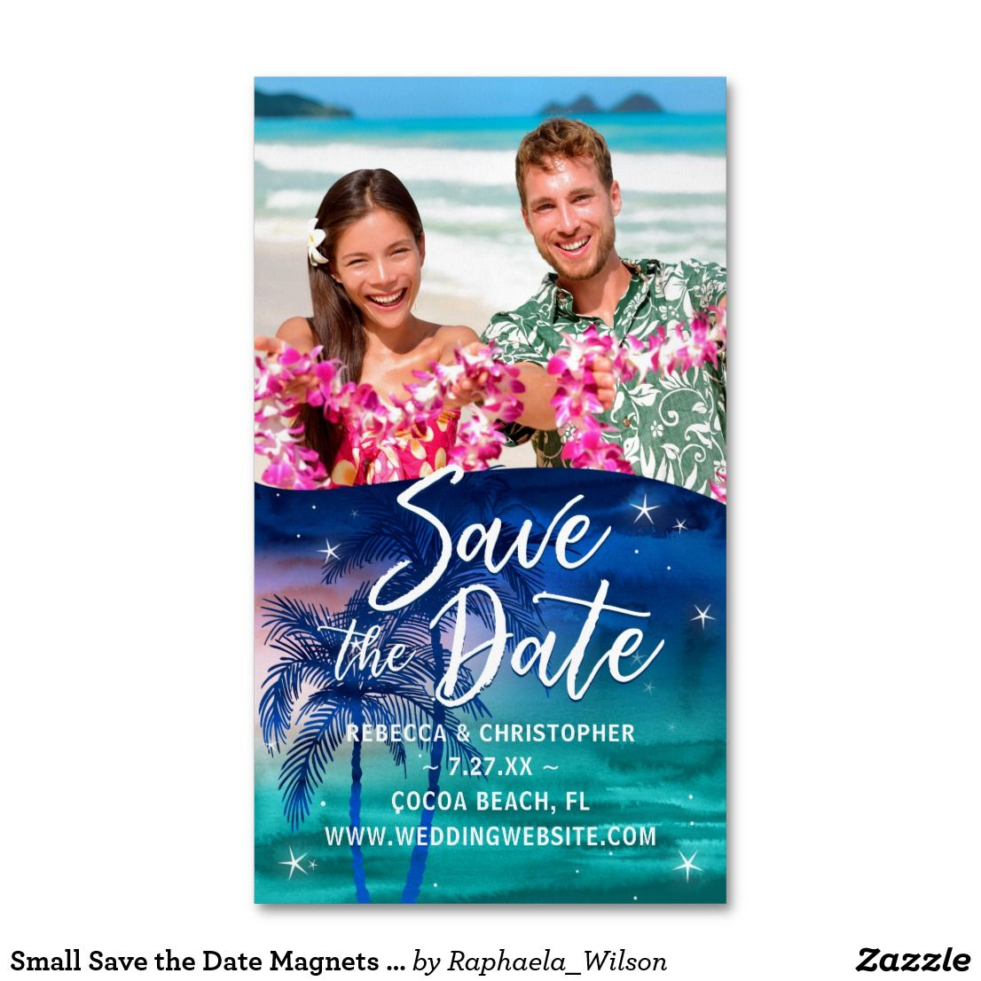 Small Beach Wedding Ideas: Small Save The Date Magnets Cheap
