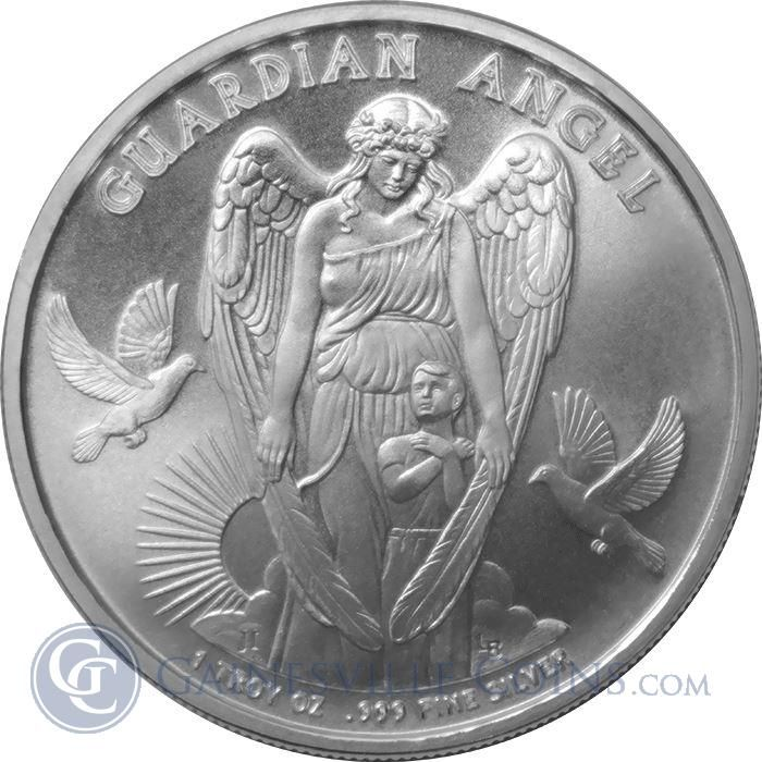 Buy 2017 1 Oz Guardian Angel Silver Gainesville Coins Buy Silver Bullion Guardian Angel Coins