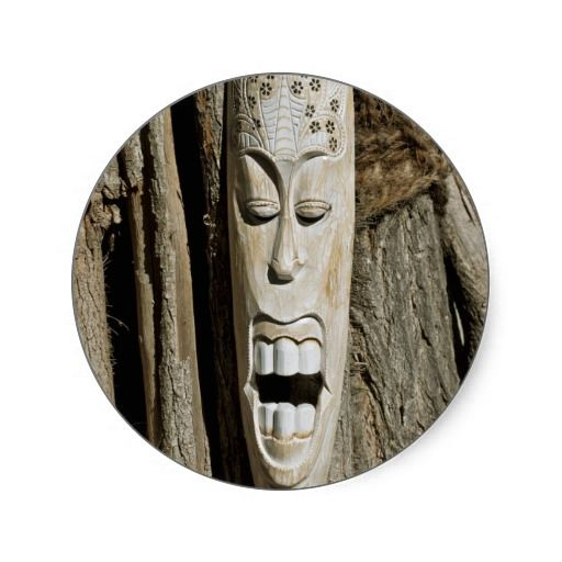 African Mask Stickers