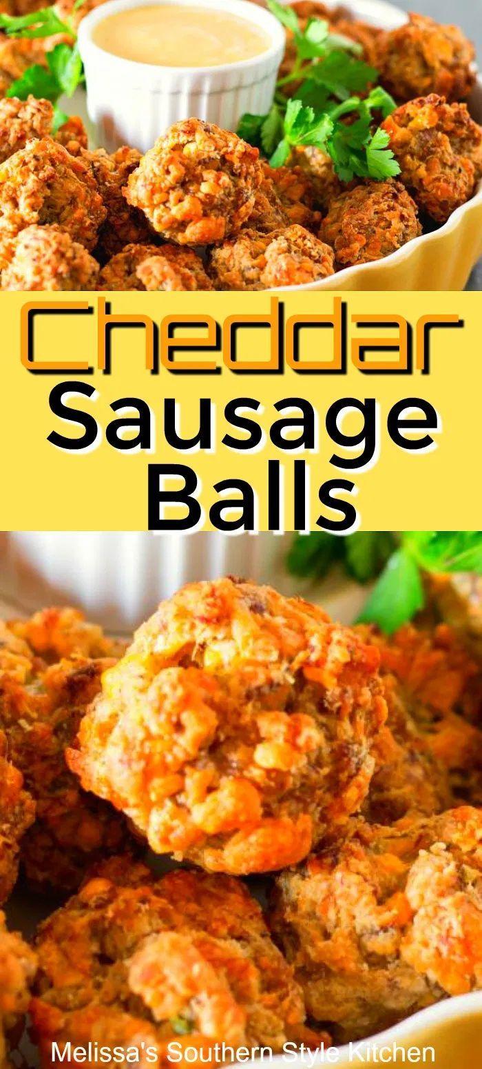 Cheddar Sausage Balls Cheddar Sausage Balls