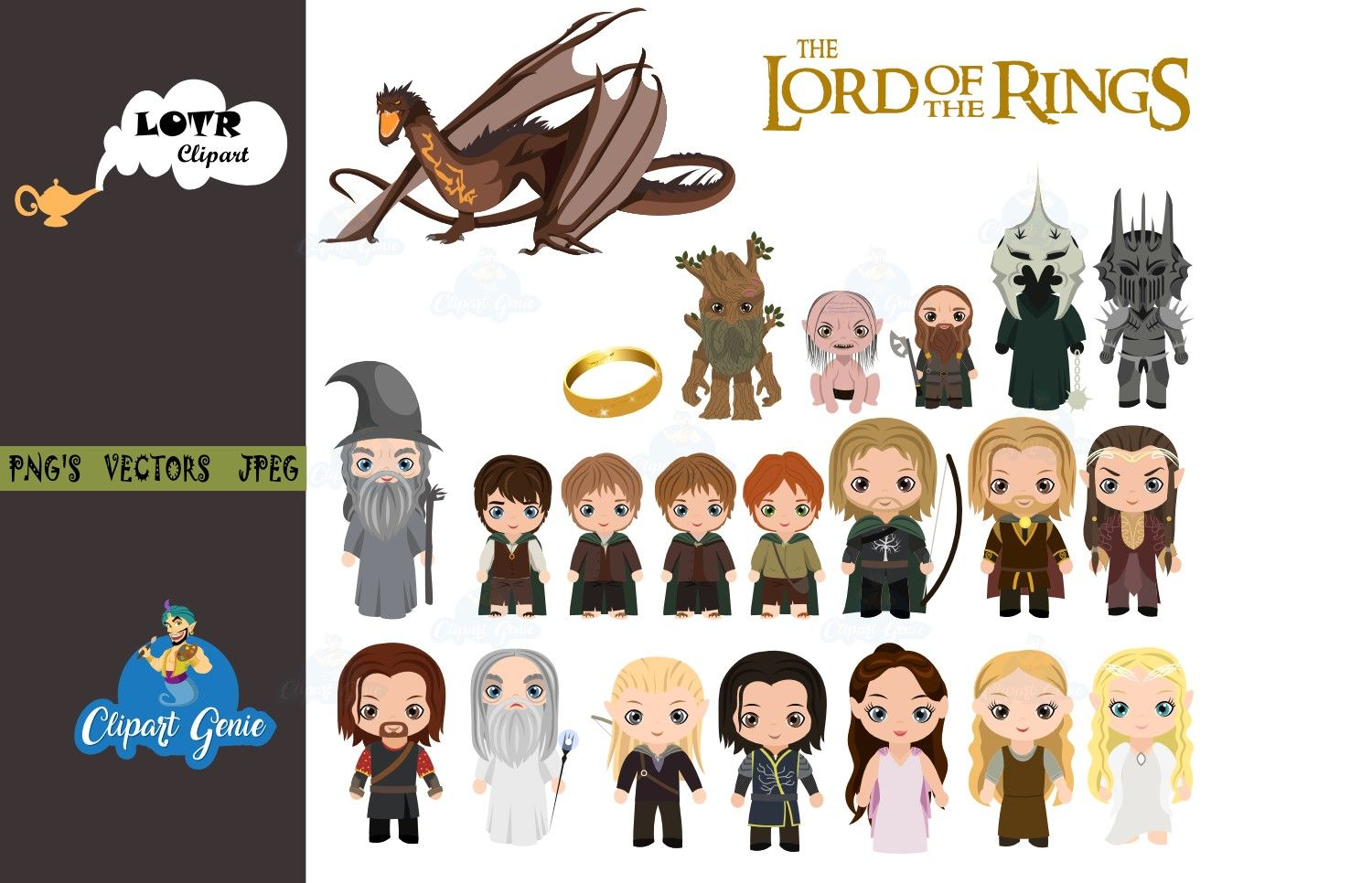 Lotr Clipart Bundle Lord Of The Rings Clipart Lotr Clipart Ring Clipart Hobbit Clipart Gandalf Clipart Aragorn Clipart Lor Clip Art Art Bundle Image Paper