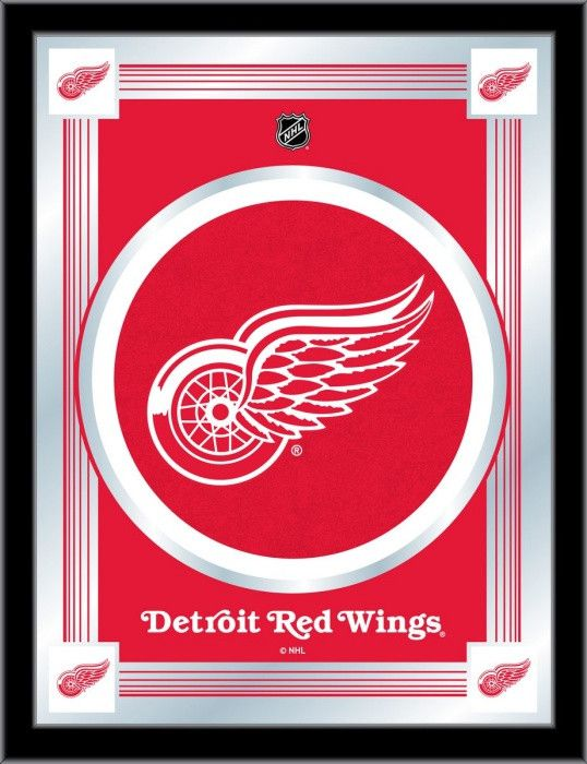Detroit Red Wings NHL Logo Mirror - Visit SportsFansPlus.com for Discount Coupon!