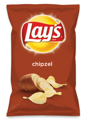 Wouldn't chipzel be yummy as a chip? Lay's Do Us A Flavor is back, and the search is on for the yummiest chip idea. Create one using your favorite flavors from around the country and you could win $1 million! https://www.dousaflavor.com See Rules.