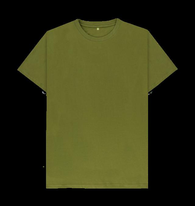 Moss Green Plain Organic T Shirt Kaos Sablon Kaos Baju Kaos