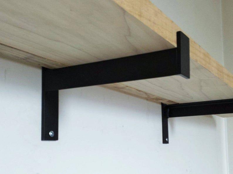 8 12 Industrial Heavy Duty Shelf Bracket Metal Angle Bracket Shelf Bracket In 2020 Metal Shelf Brackets Steel Shelf Brackets Metal Shelves