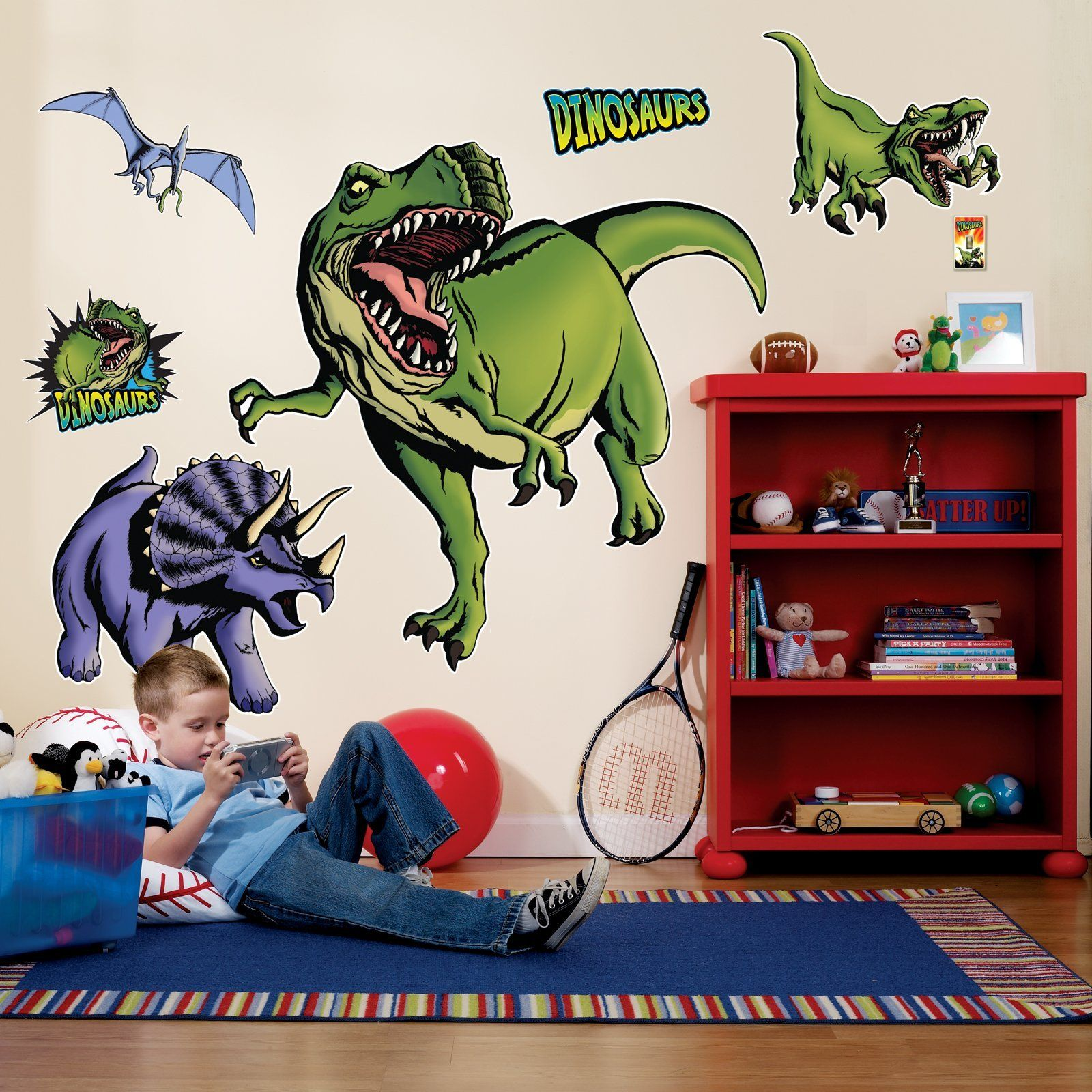 Dinosaurs Giant Wall Decals Dinosaur Wall Stickers Amazon Com