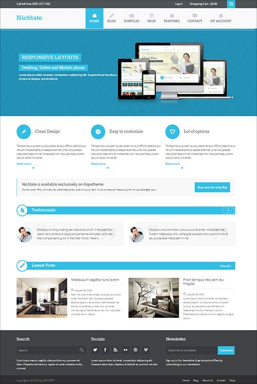 Nictitate Free Premium Responsive Wordpress Theme I Will Love In One Of My Projects Wordpress Theme Responsive Wordpress Theme Free Responsive Web Design India