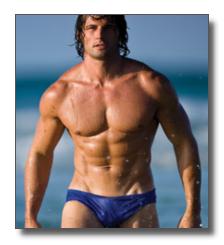 Mens see through bikini swimwear