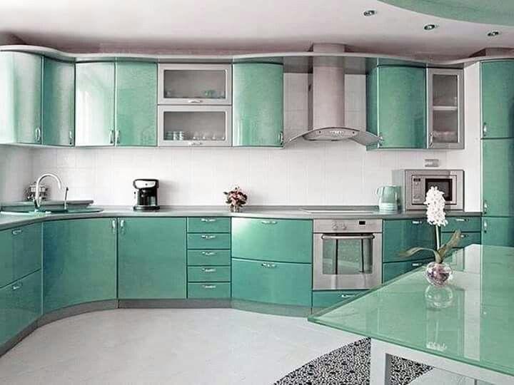 Pin By Saima Ziya On Modern Kitchen Blue Kitchen Designs Interior Design Kitchen Blue Kitchen Decor