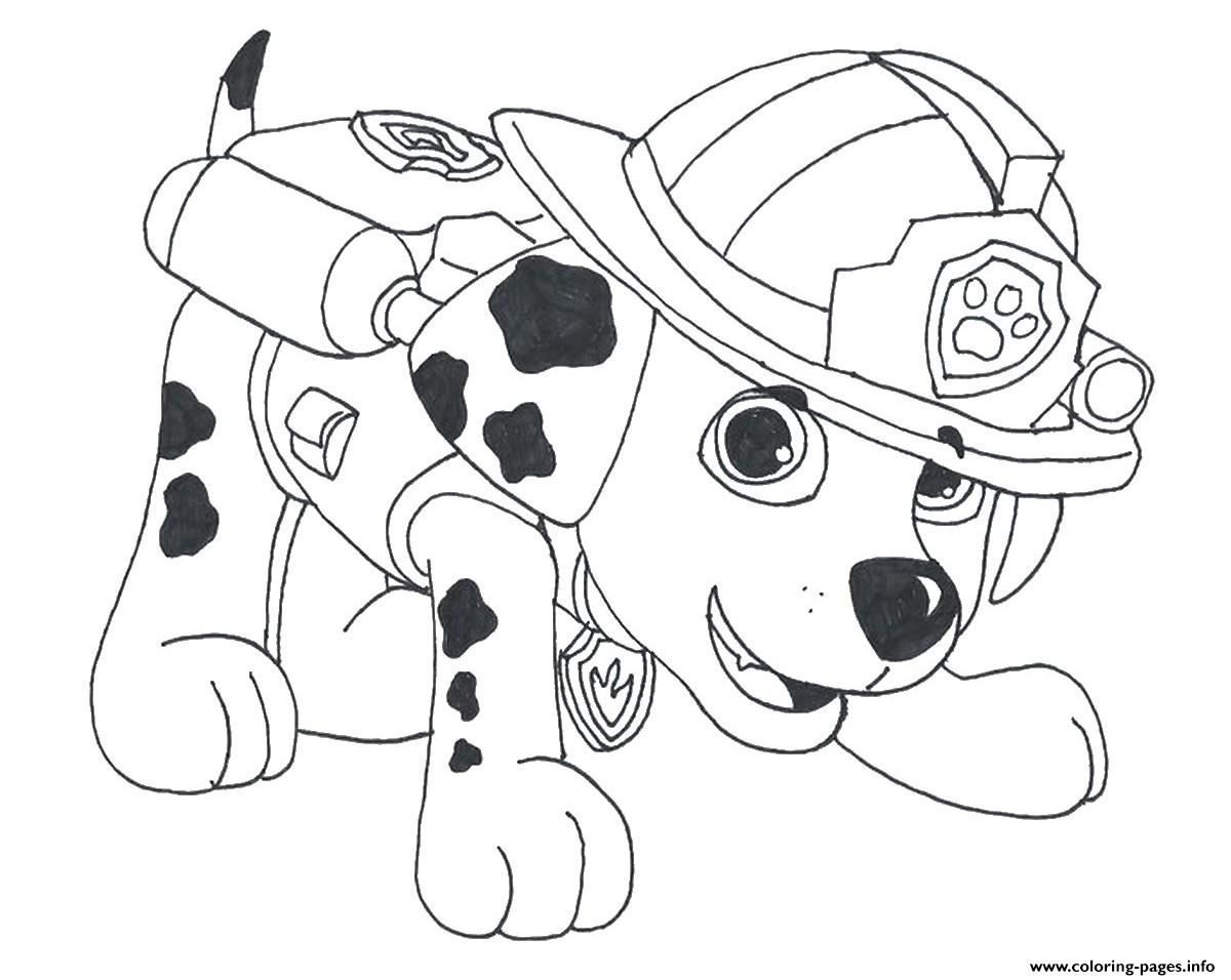 Print Paw Patrol Marshall Draw 2 Coloring Pages With Images