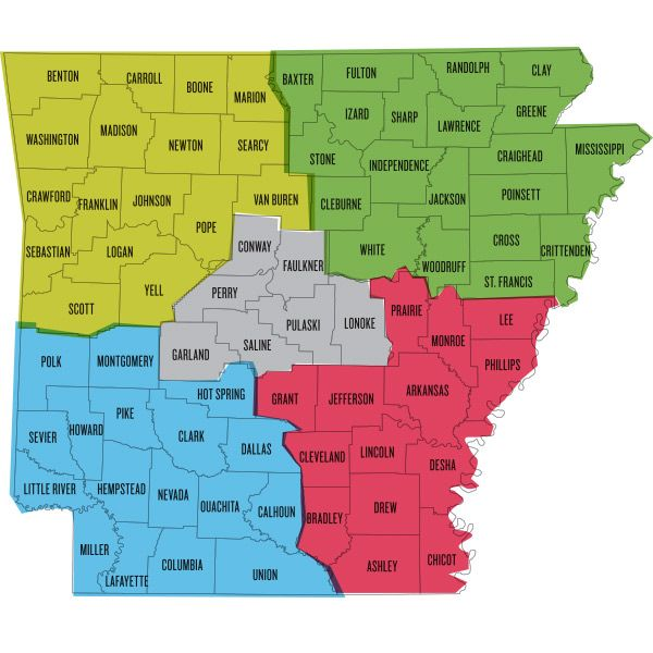 To Do In All Arkansas Counties Arkansas Pinterest - State of arkansas county map