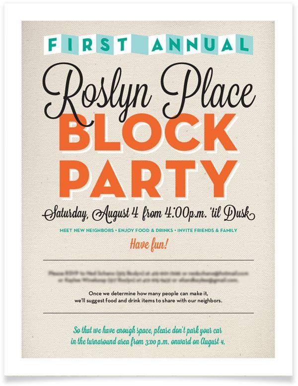 block party invitation Google Search Invitations – Block Party Invites
