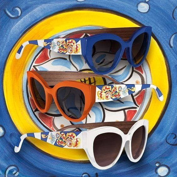 The colors and prints of Sicilian Carts become fun accessories for summer. These Dolce & Gabbana eyewear will add an extra touch of beauty to any outfit.