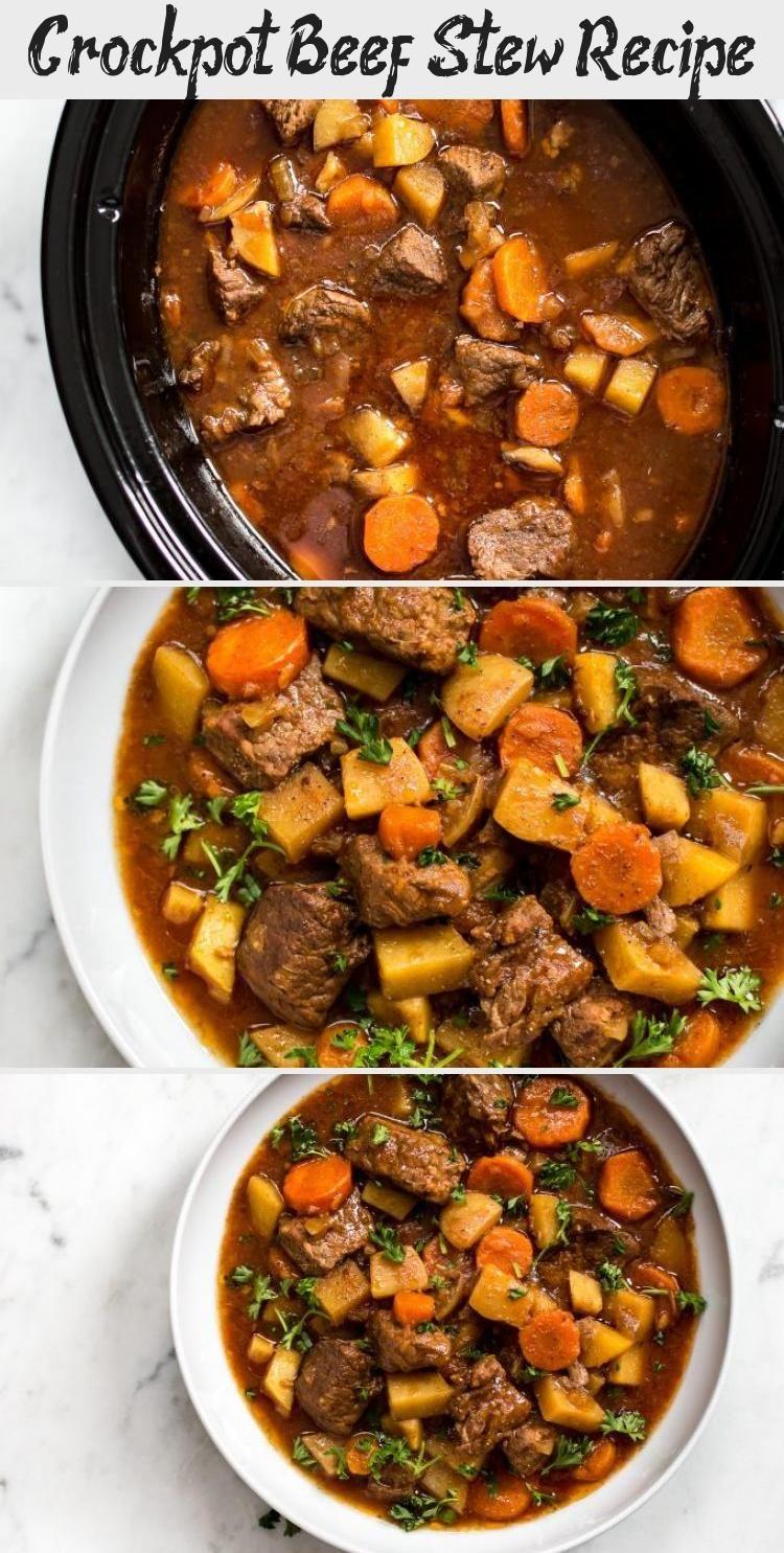 This Crockpot Beef Stew Recipe Is Simple Hearty Healthy And Totally Delicious It S A Com In 2020 Gesunde Rezepte Mit Fleisch Rindfleisch Schmortopf Eintopf Rezepte