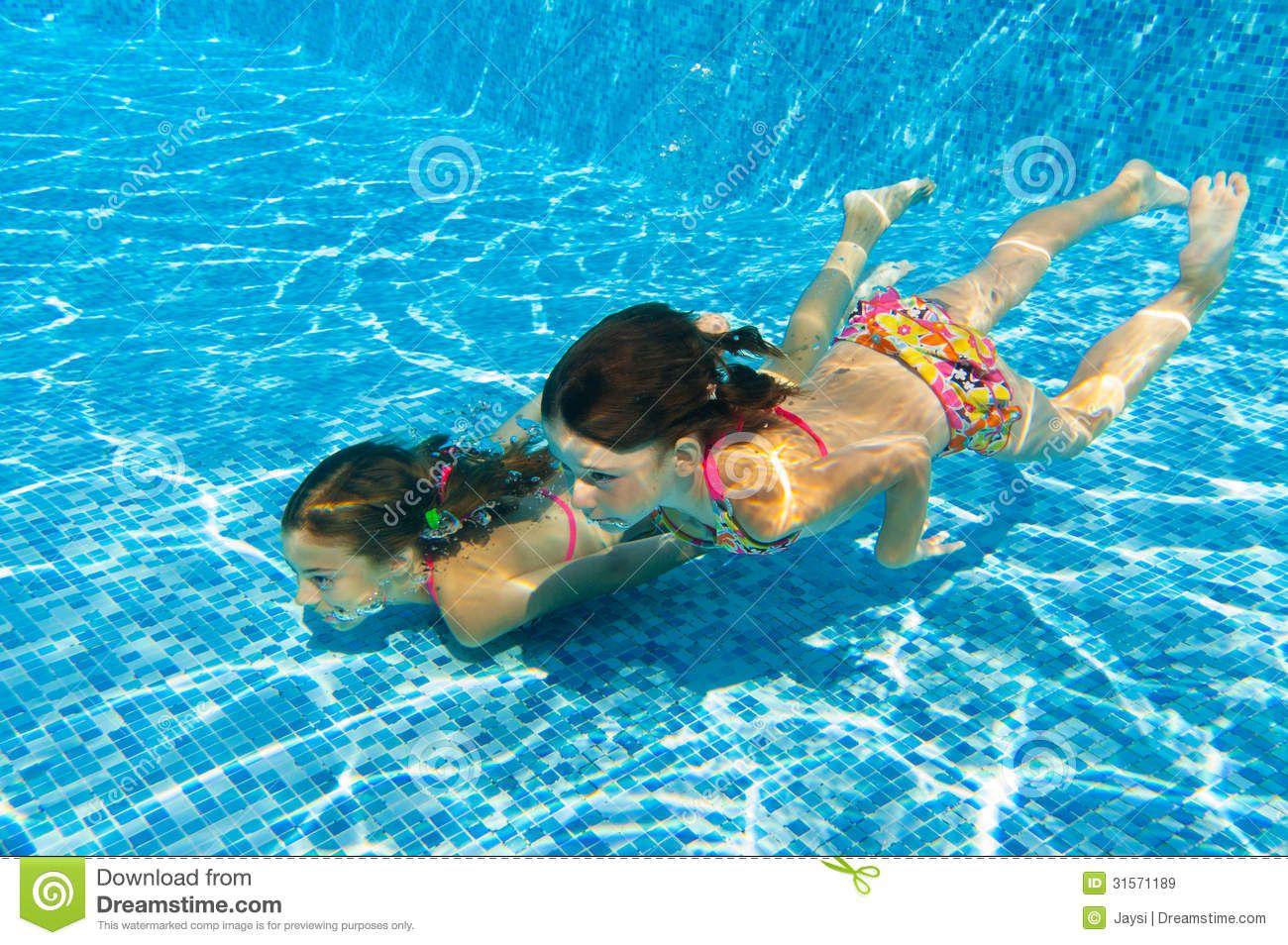 children swimming underwater google search - Kids Swimming Underwater