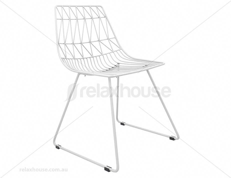 Magnificent Kas Modern Wire Dining Chair White Metaloutdoorchairs Frankydiablos Diy Chair Ideas Frankydiabloscom