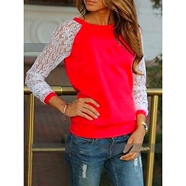Women's Lace Sleeves T Shirt 2015 – $16.99
