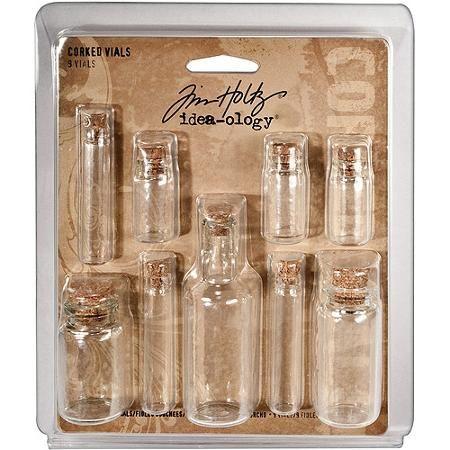 Advantus Tim Holtz Idea-Ology Corked Glass Vials - Walmart.com