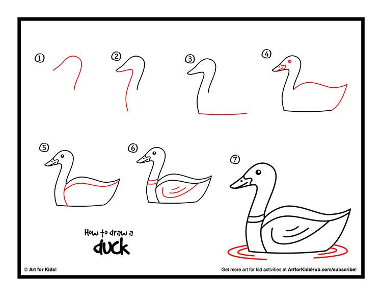 How To Draw A Duck Art For Kids Hub Doodles Illustrations
