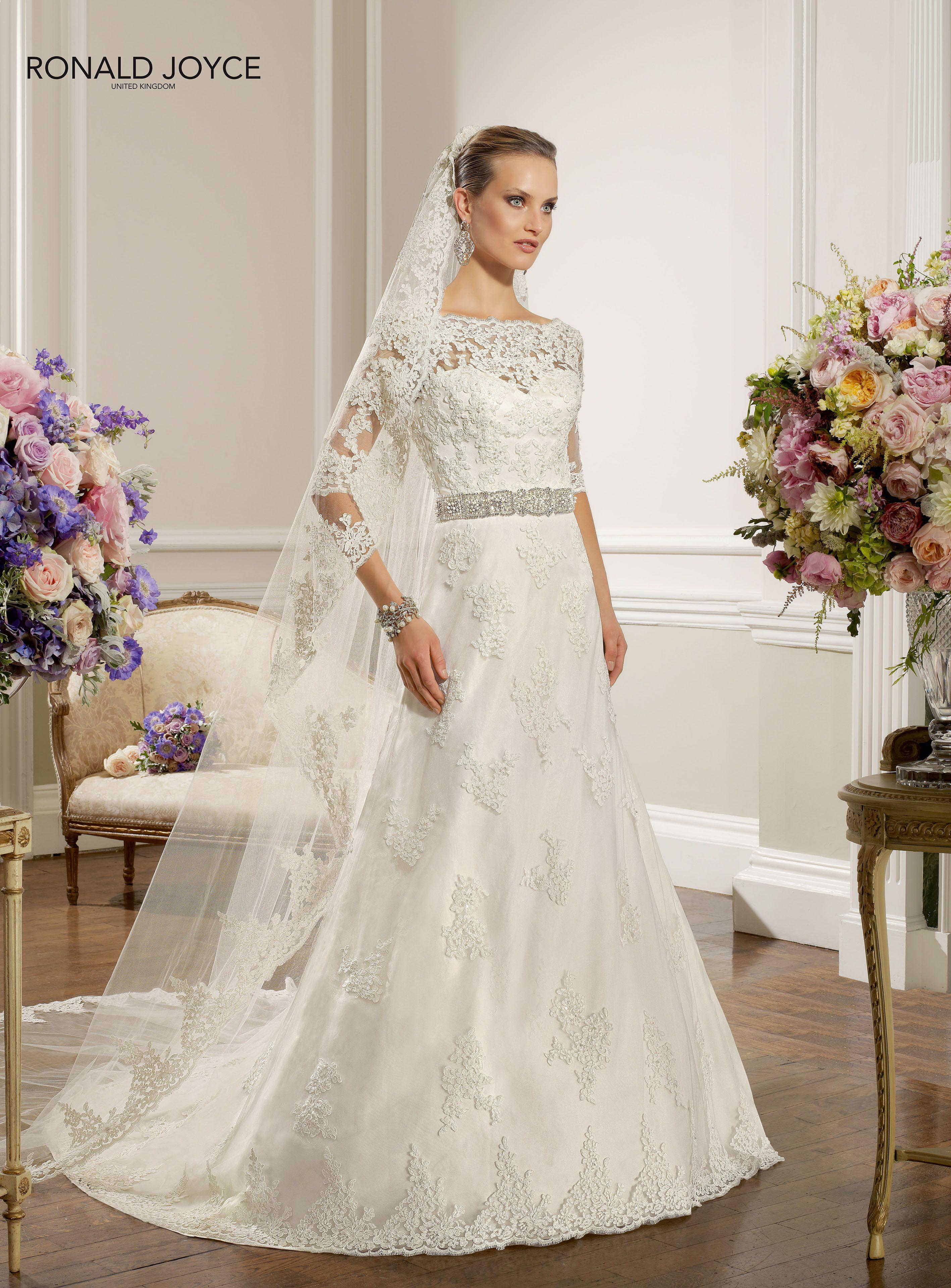 Ronald Joyce 67022 #Becky #lace #67032veil #sleeves | Wedding dress ...