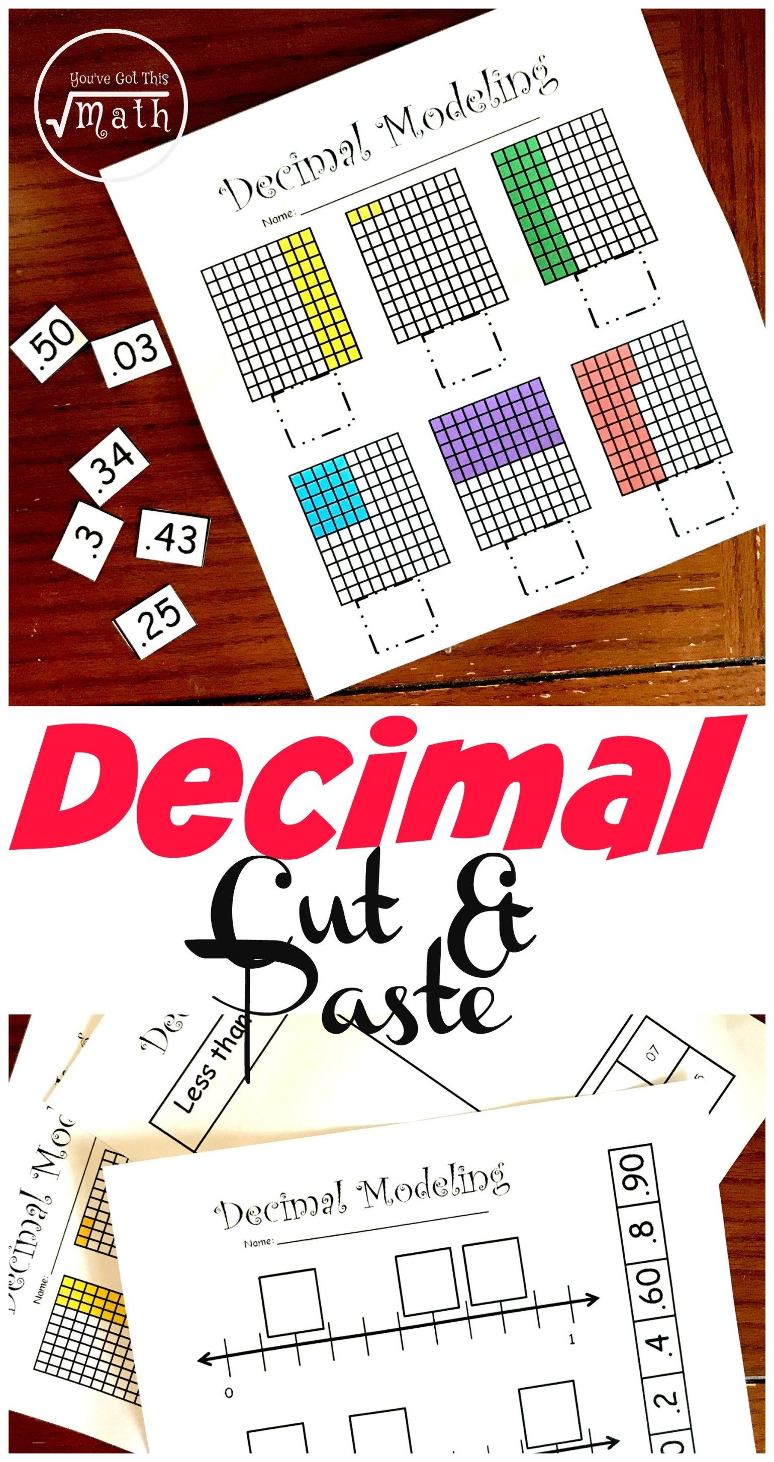 4 Hands On Decimal Place Value Worksheets