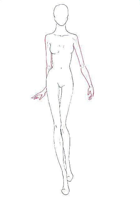 Face Base Corpo Croqui Basic Sketch Of Fashion Face