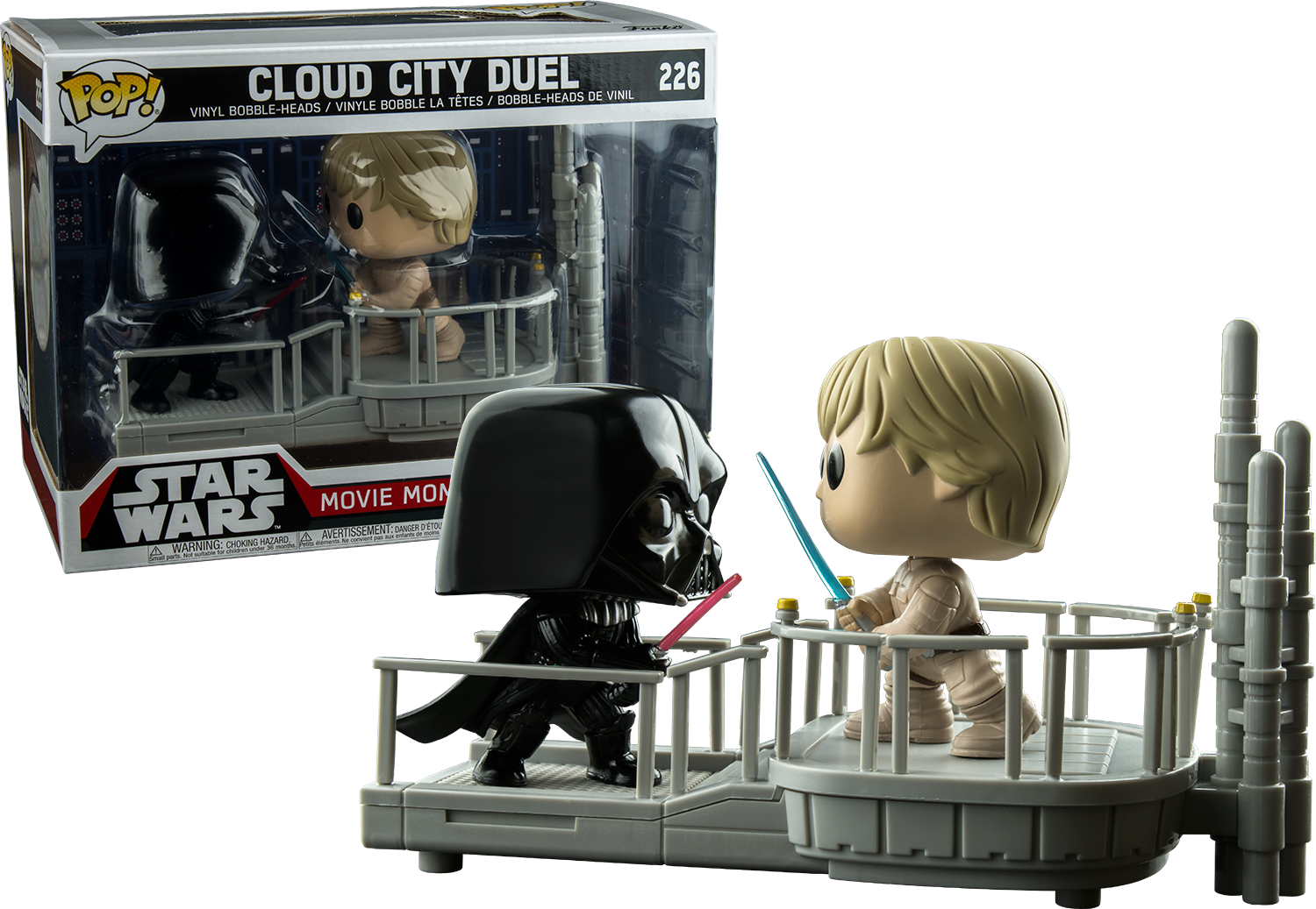 Star Wars Darth Vader And Luke Skywalker Cloud City Duel Movie Moments Funko Pop Vinyl Figure 2 Pack Popcultch Funko Pop Star Wars Star Wars Movie Pop Star