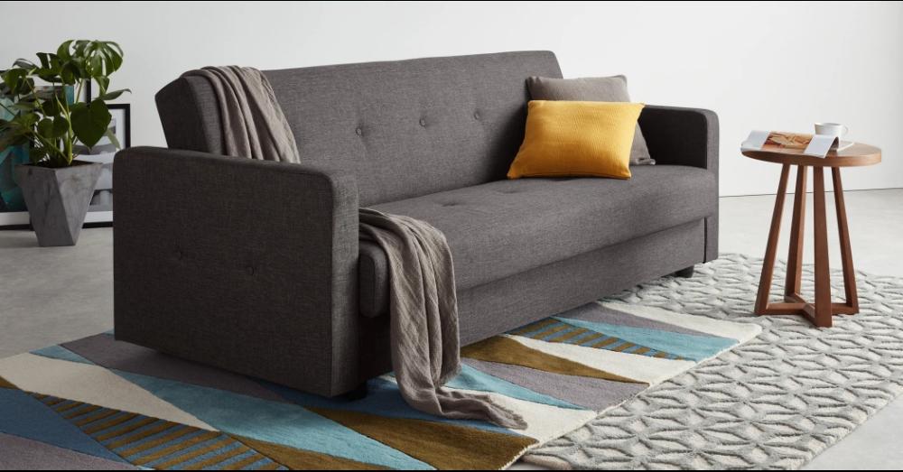 Chou Click Clack Sofa Bed with Storage, Quartz Blue Sofa