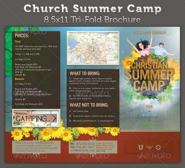 Church Summer Camp Brochure  Design Brochure Inspiration