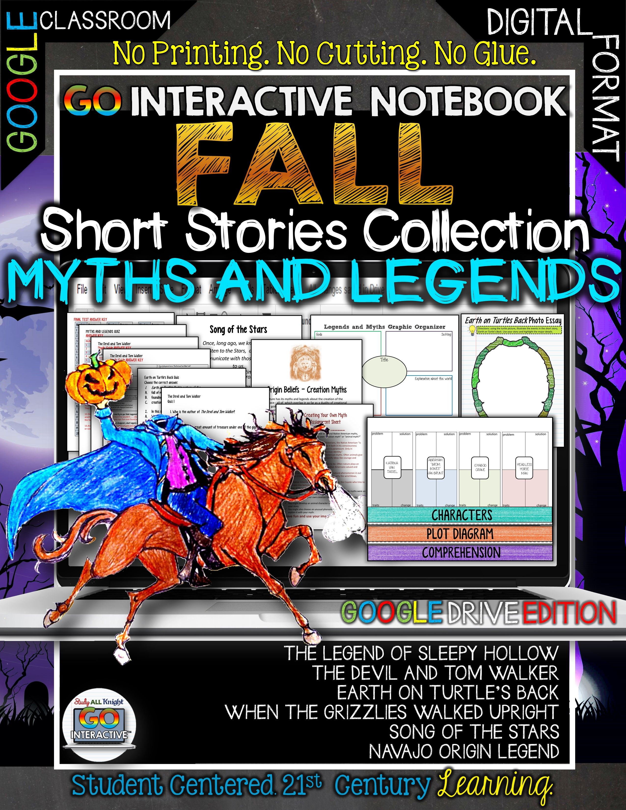 Go Interactive Notebook Edition Fall Short Stories