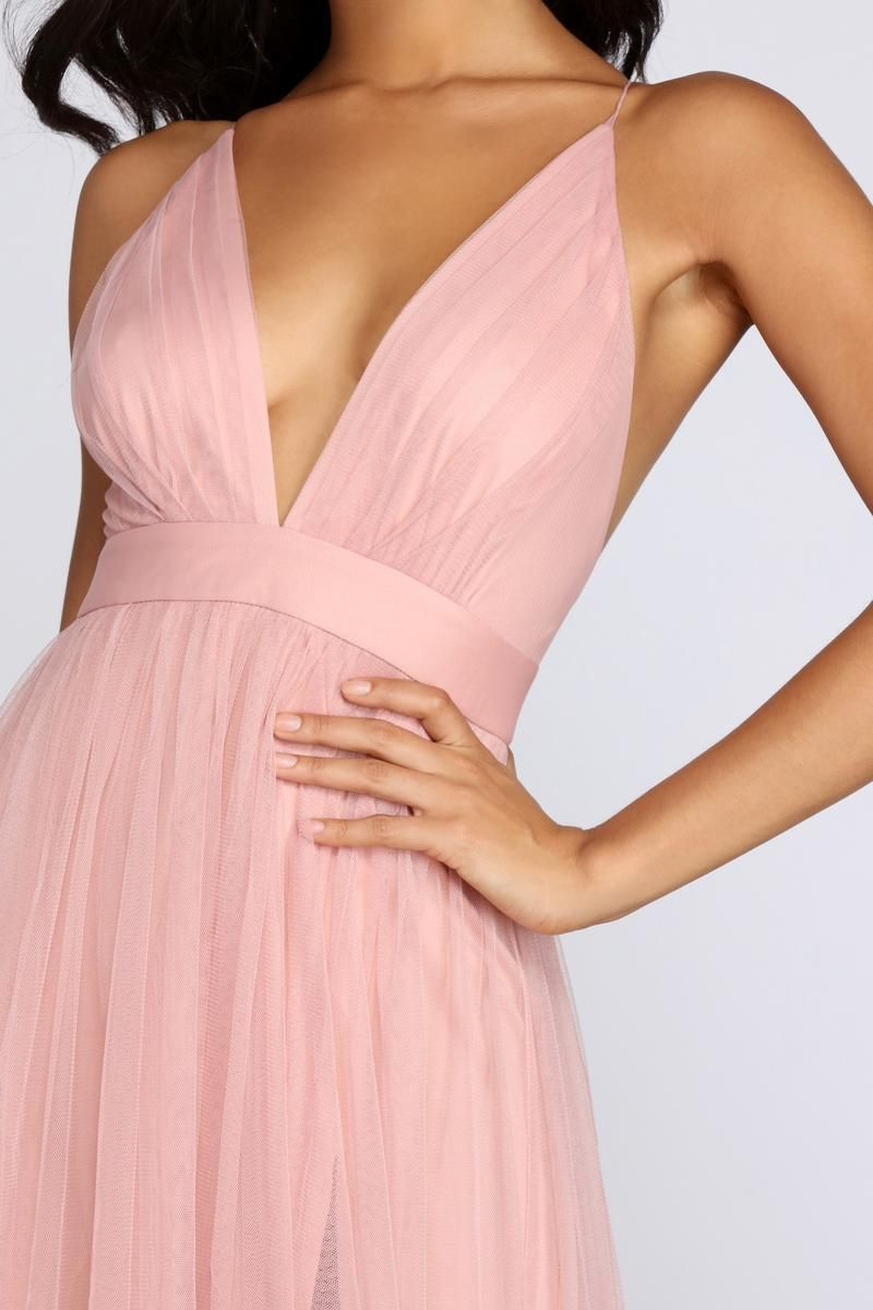 Elisabeth Pleated Tulle Formal Dress In 2021 Pink Dress Short Light Pink Bridesmaid Dresses Pink Bridesmaid Dresses Long [ 1200 x 800 Pixel ]