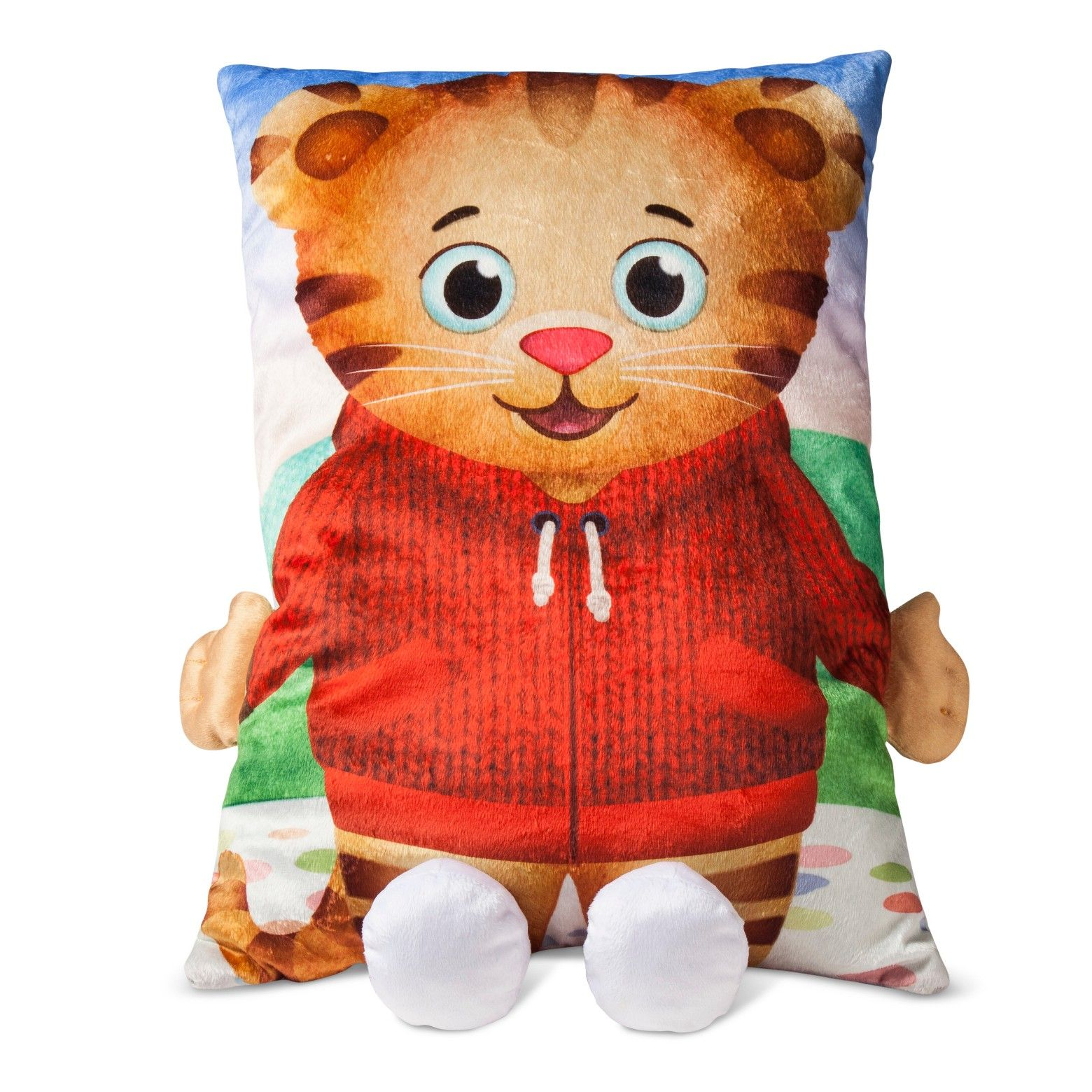 Daniel Tigers Neighborhood174 Red Brown Pillow