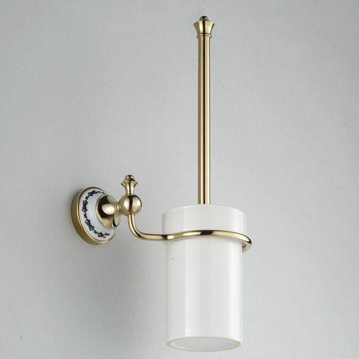 Modern Bathroom Toilet Brush Holder in Polished Brass G-206 ...
