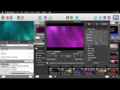 ProPresenter 6: Media Organization and Effects - YouTube