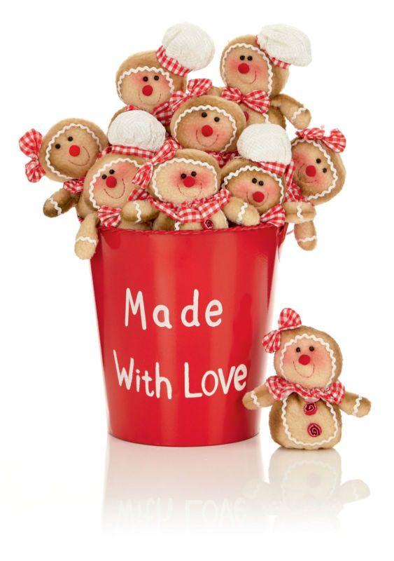 2 Christmas cuddly Gingerbread Man hanging decoration tree gift stocking filler
