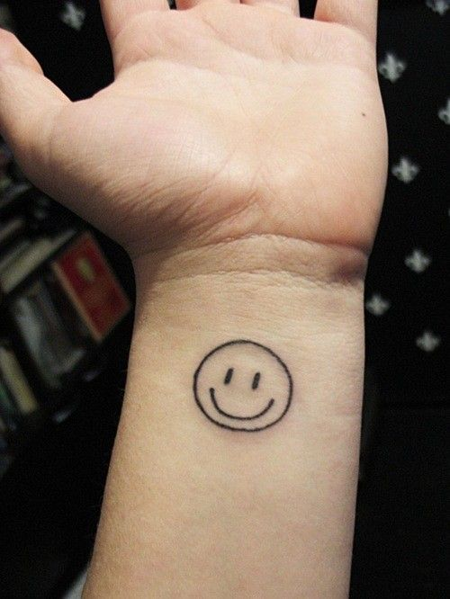 e4f2441ad Image result for white ink smiley face tattoo   tattoos & piercings ...