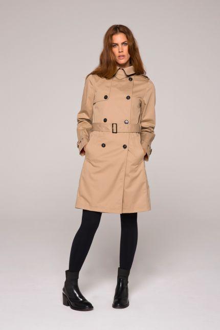 Manteau gabardine longue femme