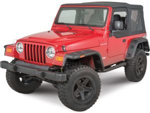 Rugged Ridge 11640 30 Hurricane Fender Flares For 97 06 Jeep Wrangler Tj Unlimited Fender Flares Rugged Ridge Wheels And Tires
