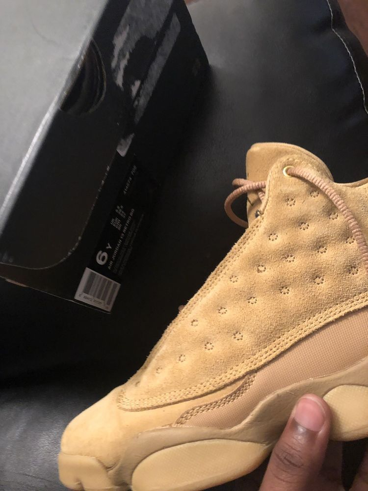 f6df3523dfbe jordan 13 wheat size 6y  fashion  clothing  shoes  accessories  mensshoes