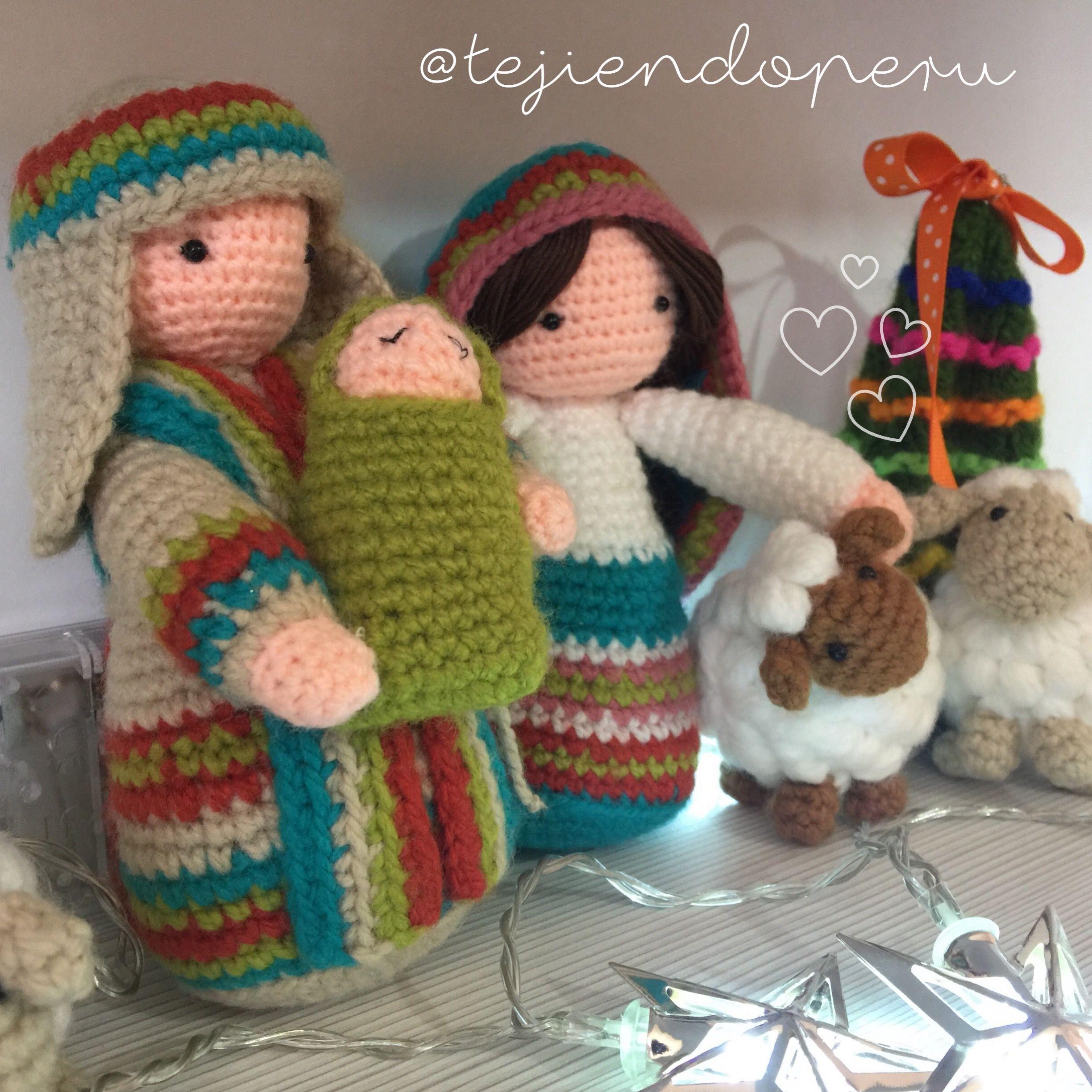 Nacimiento tejido a crochet paso a paso amigurumi for Adornos navidenos tejidos a crochet 2016