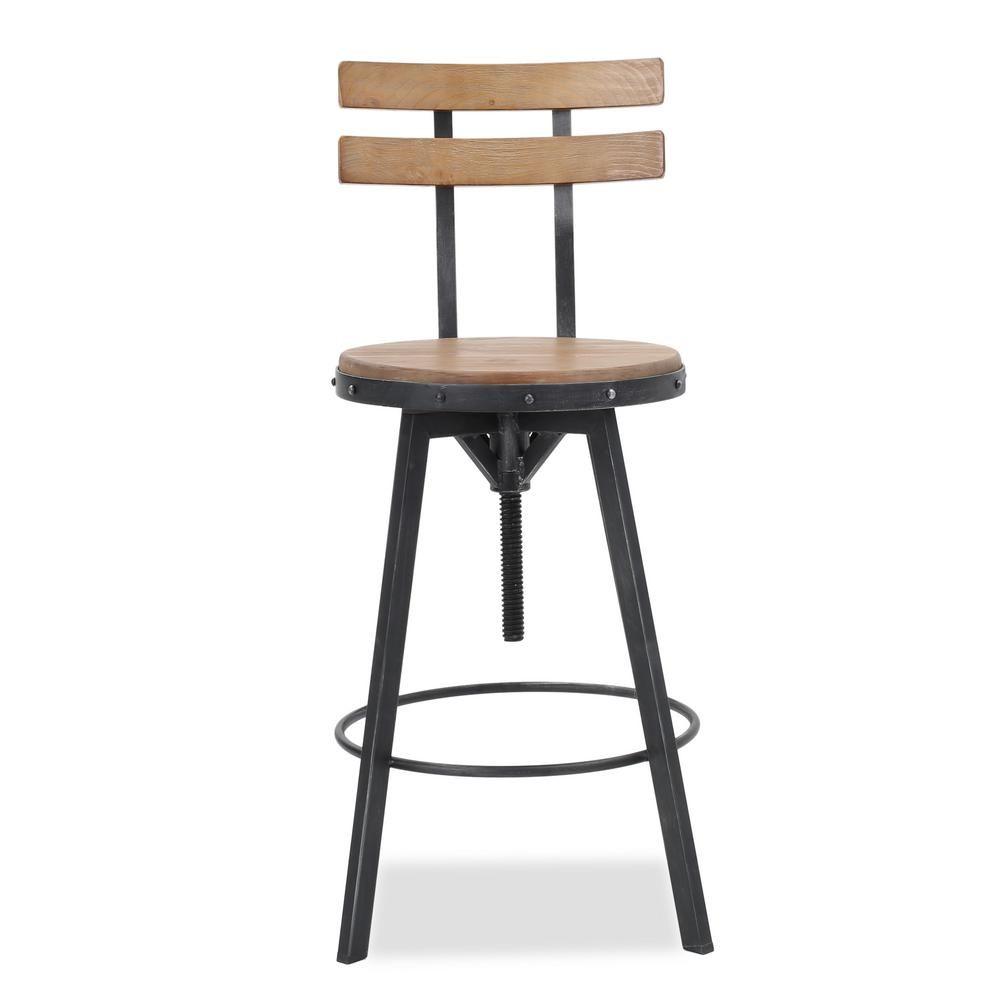 Swell Noble House 39 In Fenix Antique Adjustable Bar Stool Machost Co Dining Chair Design Ideas Machostcouk