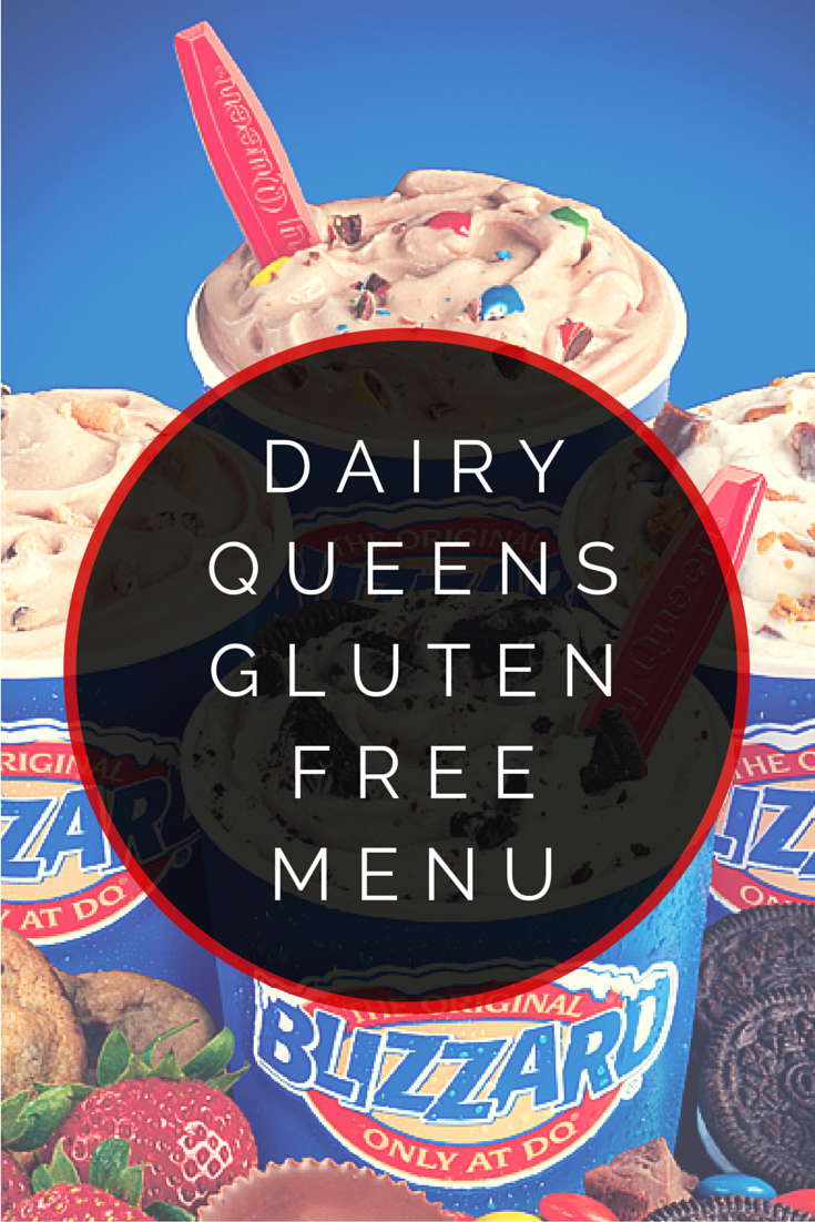 Dairy Queens Gluten Free Menu Glutenfree