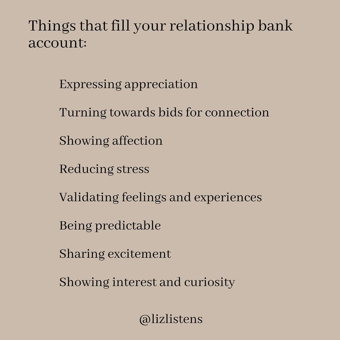 If You Think About Emotional Connection Like A Bank