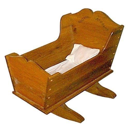Baby Cradle Woodworking Plan with Full Scale Curves