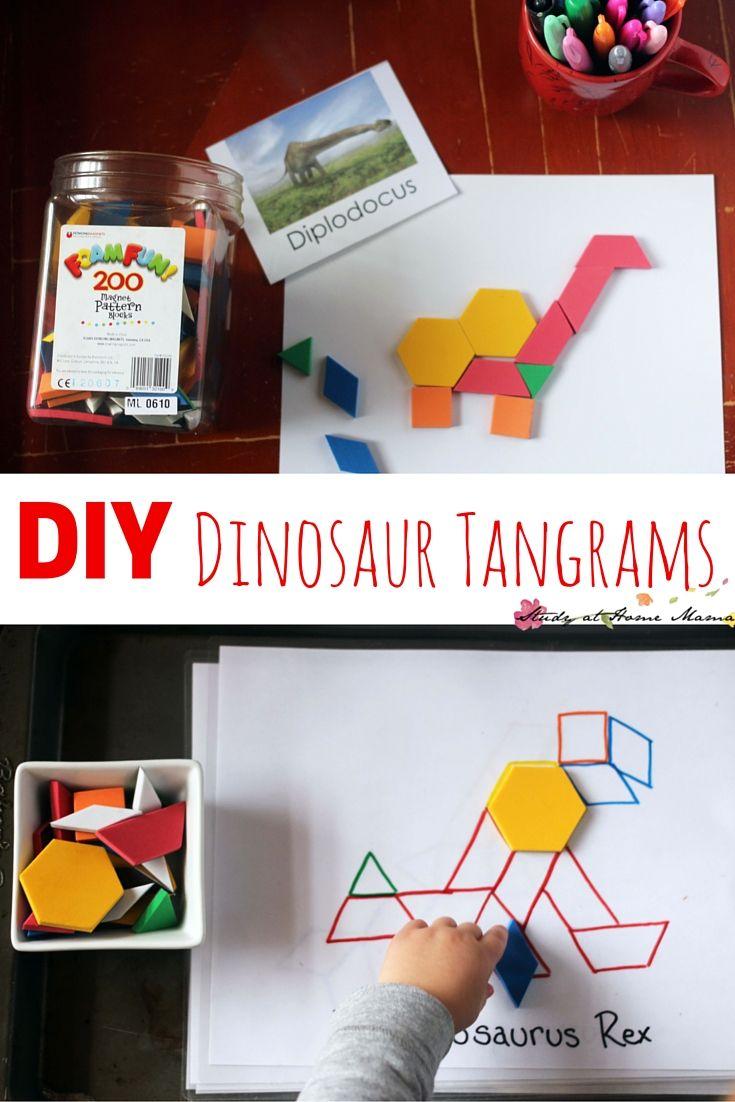 DIY Dinosaur Tangrams & 14 Dino Busy Bags ⋆ Sugar, Spice and Glitter