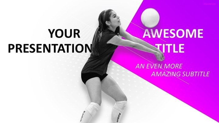 Sports  Volleyball Powerpoint Template  Sports Powerpoint