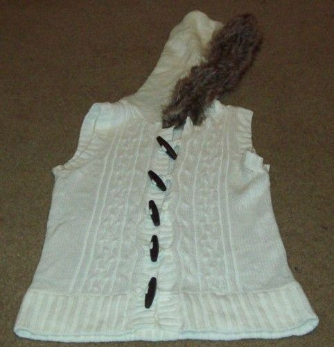 Planet Gold hooded toggle sweater vest ~ starts at $2.50