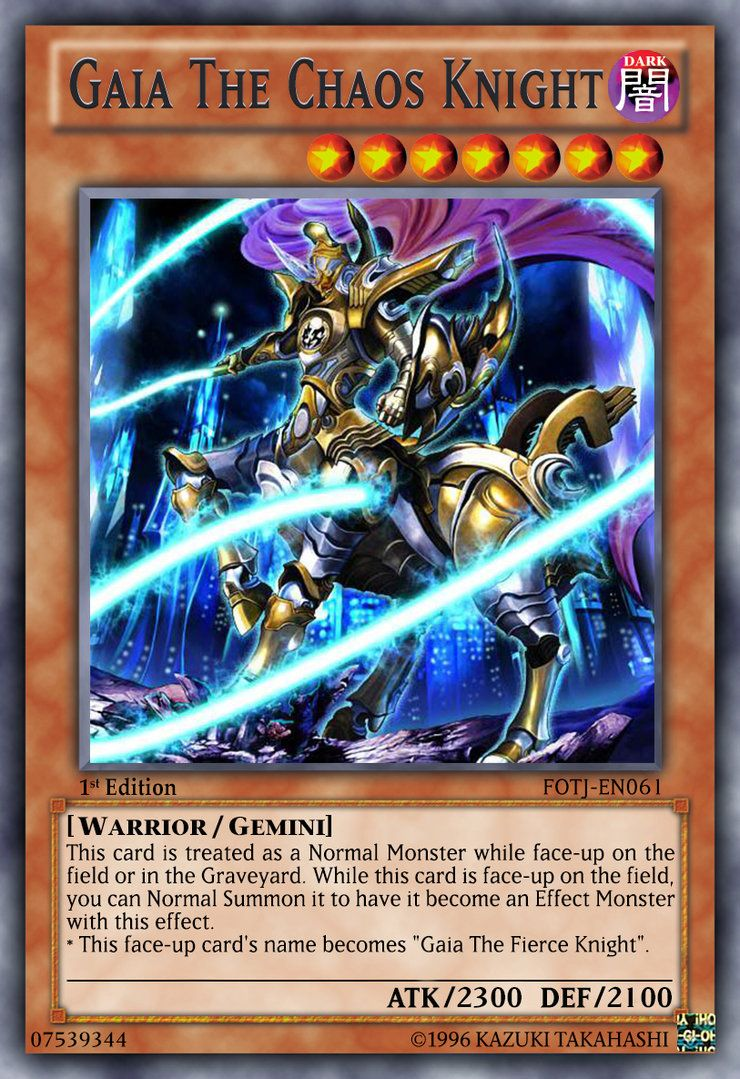 Gaia The Chaos Knight Yugioh Decks Trading Cards Game Cards