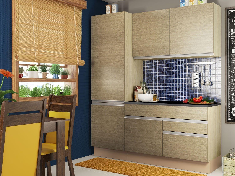 Cozinha Compacta Madesa Glamy Top Com Balc O 5 Portas 2 Gavetas